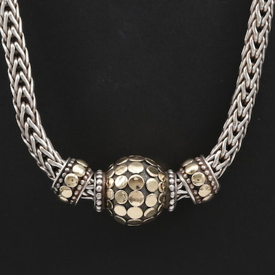 "John Hardy ""Dot"" Sterling Necklace with 18K Accents"