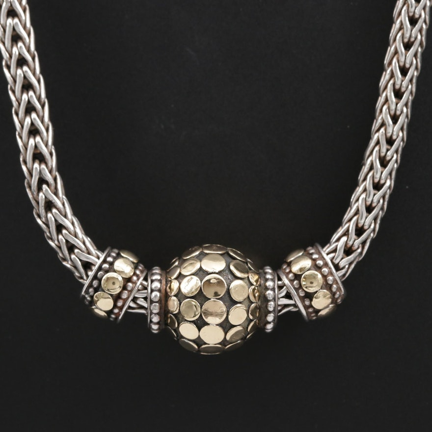"""John Hardy """"Dot"""" Sterling Necklace with 18K Accents"""