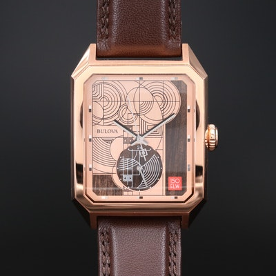 Bulova Frank Lloyd Wright Limited Edition Rose Gold Tone Quartz Wristwatch