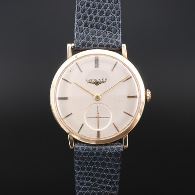 Vintage Longines 14K Yellow Gold Stem Wind Wristwatch