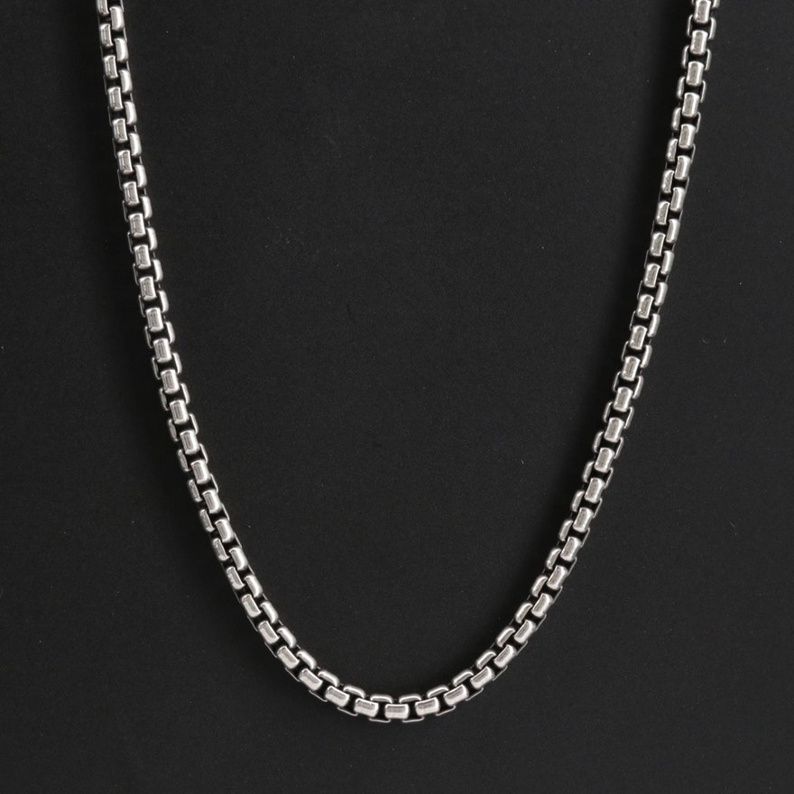 David Yurman Endless Sterling Box Chain Link Necklace