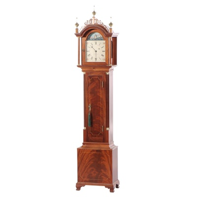 Foster S. Campos Federal Style Mahogany Grandmother Clock , Mid to Late 20th C.