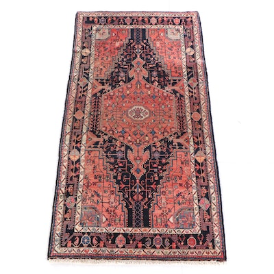 4'11 x 9'8 Hand-Knotted Persian Qashqai Wool Rug