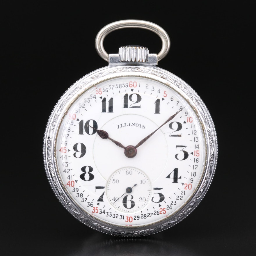 Vintage Illinois Bunn Special Open Face Pocket Watch, 1925