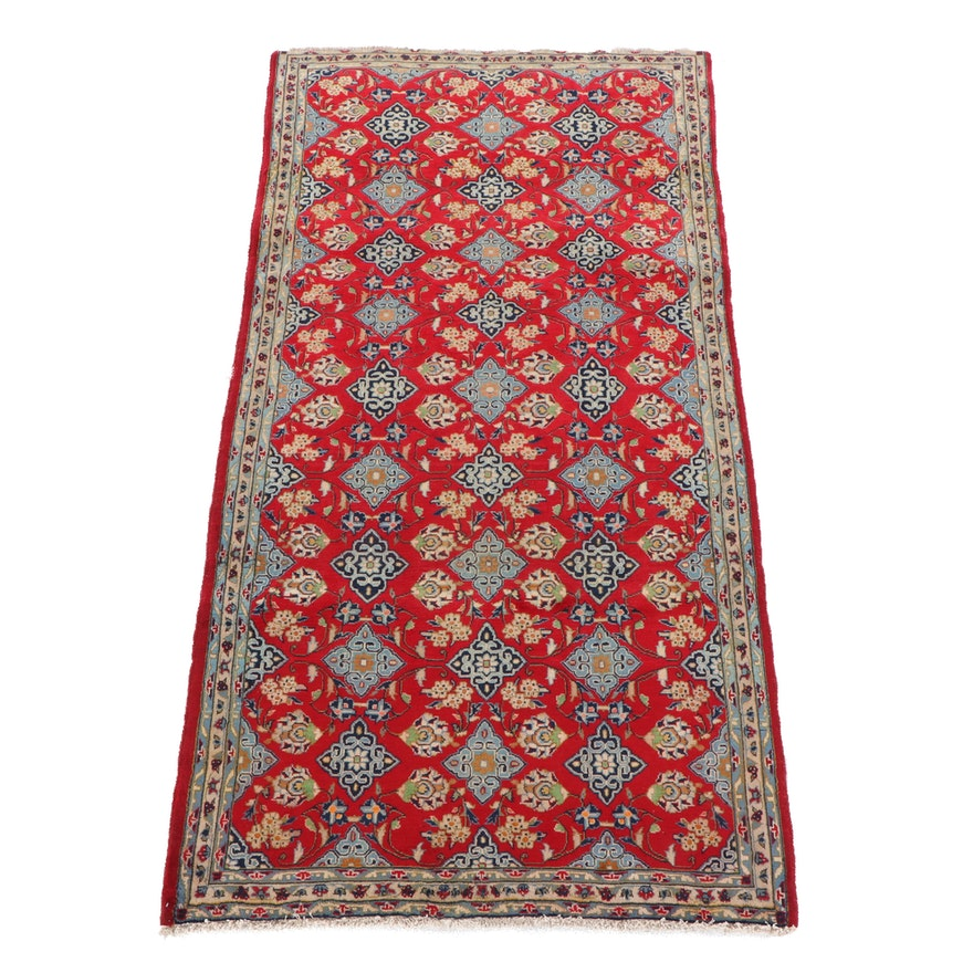 5'1 x 9'10 Hand-Knotted Persian Najafabad Wool Rug