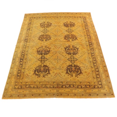 10'0 x 14'1 Hand-Knotted Turkish Oushak Wool Rug