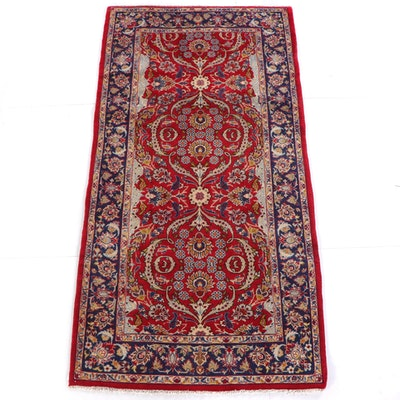 5'2 x 10'1 Hand-Knotted Persian Najafabad Wool Rug