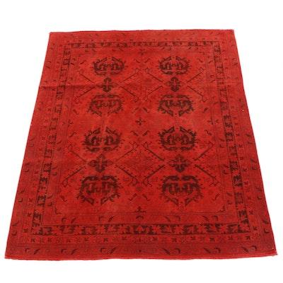 7'11 x 9'10 Hand-Knotted Turkish Overdye Wool Rug