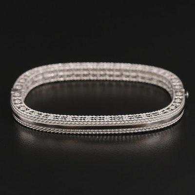 "Roberto Coin ""Princess"" 18K Gold Hinged Bangle Bracelet"