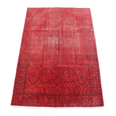 7'1 x 10'9 Hand-Knotted Turkish Overdye Wool Rug