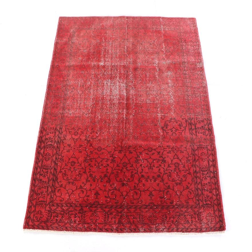 7'1 x 10'9 Hand-Knotted Turkish Overdye Wool Rug