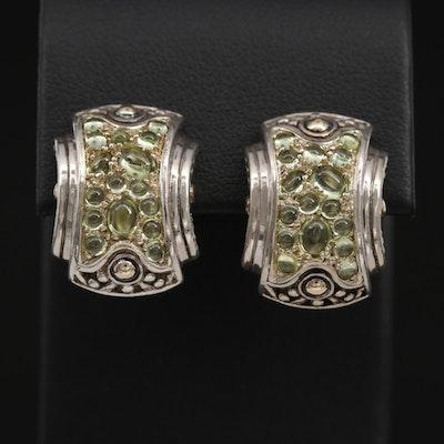 John Hardy Sterling Peridot Earrings with 18K Accents