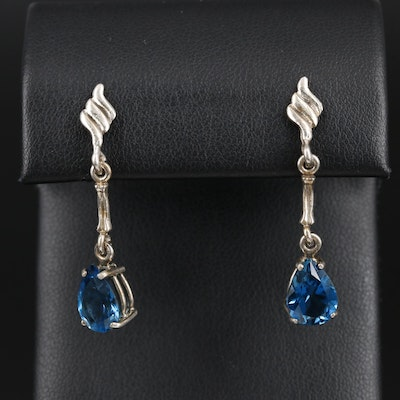 Sterling Silver Topaz Earrings