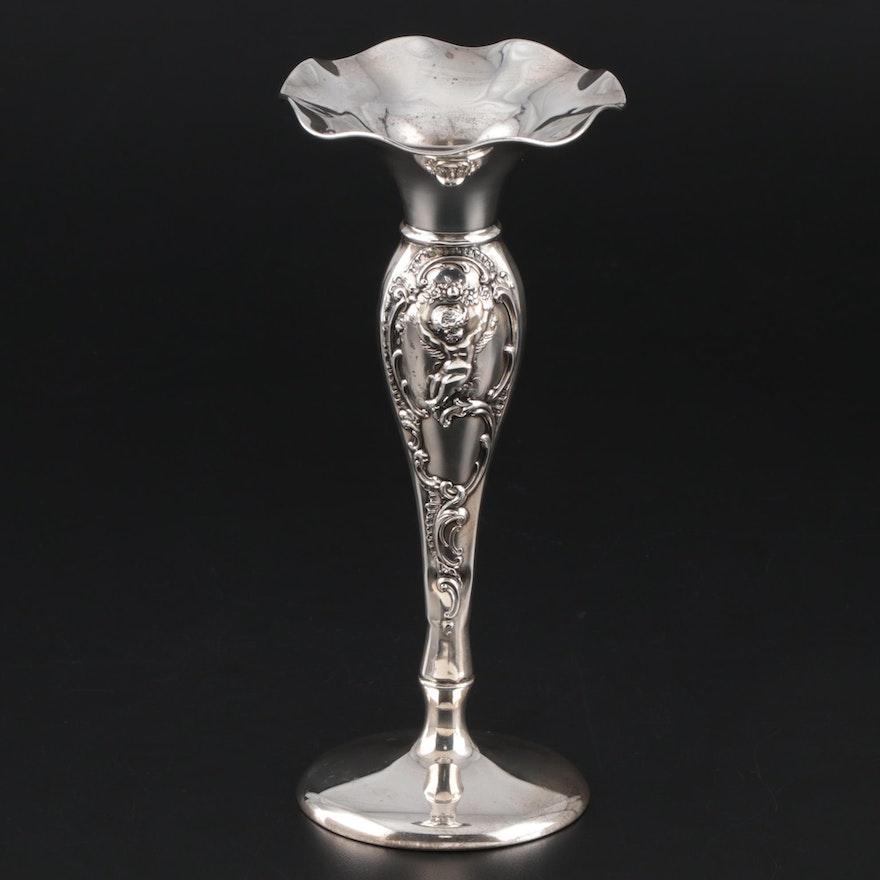 Redlich Art Nouveau Sterling Silver Vase