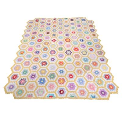 "Handcrafted ""Grandmother's Flower Garden"" Quilts"