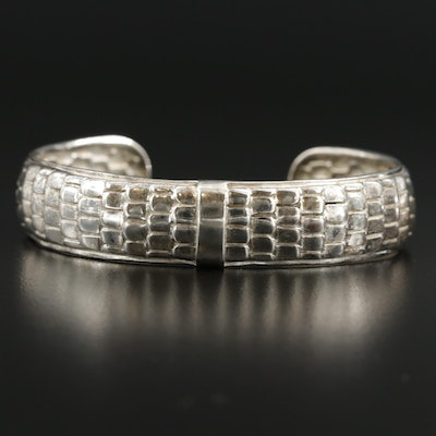 Mexican Sterling Silver Scale Textured Cuff
