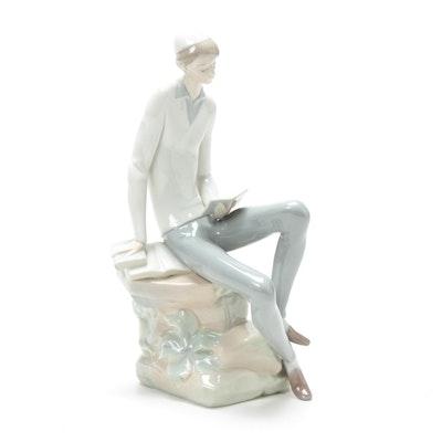 "Lladró ""Hebrew Student"" Porcelain Figure"
