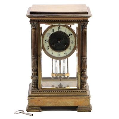 Vincenti et Cie French Crystal Regulator Clock, 19th Century
