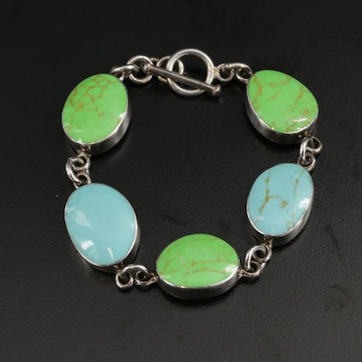 Mexican Sterling Silver Howlite Bracelet