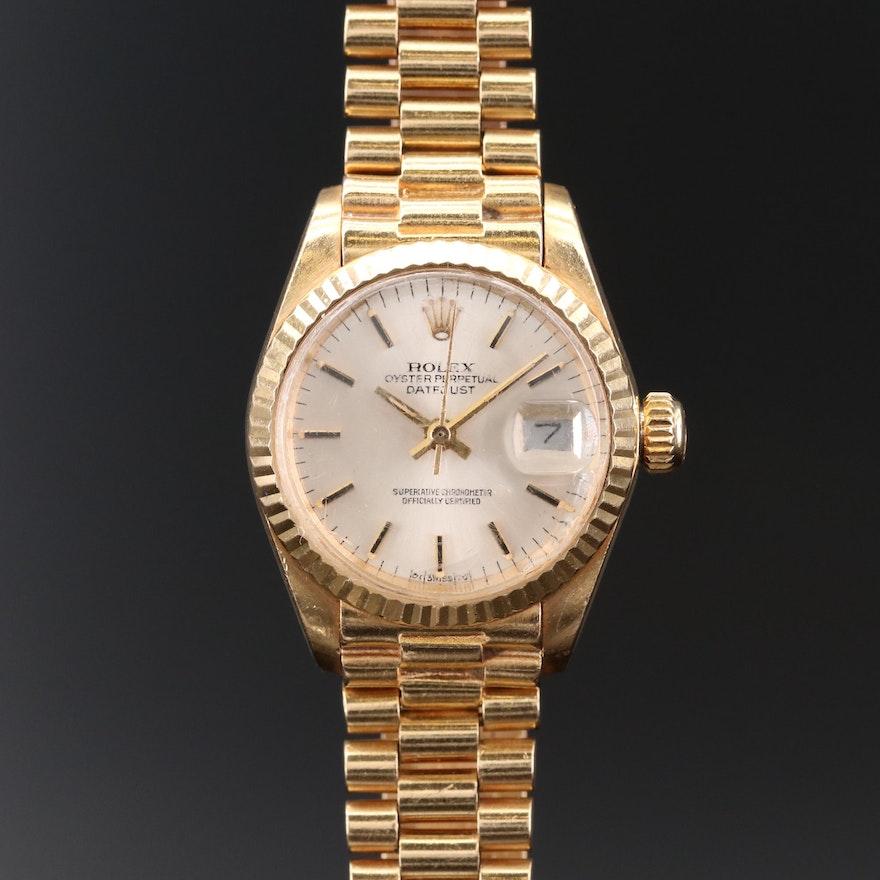 Rolex Datejust Presidential 18K Gold Automatic Wristwatch, 1978