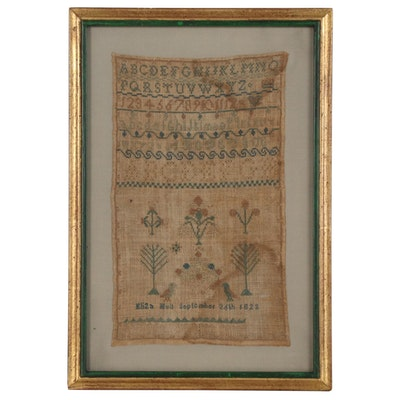 Eliza Hull American Alphabet Marking Sampler, 1823