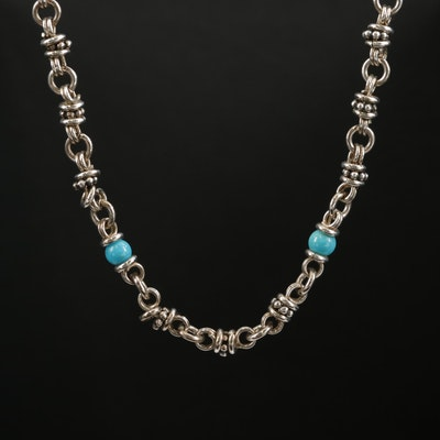 Michael Dawkins Sterling Turquoise Necklace