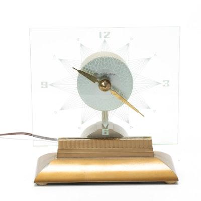 "MasterCrafters ""Starlight"" Illuminated Television Clock, Mid-20th Century"
