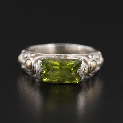 John Hardy Sterling Peridot Ring