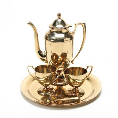 "Dirilyte ""Regal"" Goldware Coffee Service"