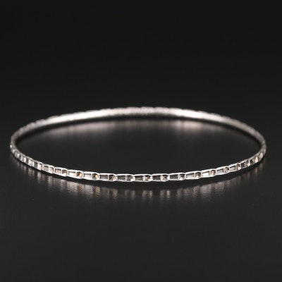 Sterling Silver Patterned Bangle Bracelet