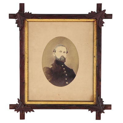Civil War Portrait Albumen Photograph, Mid to Late 19th Century