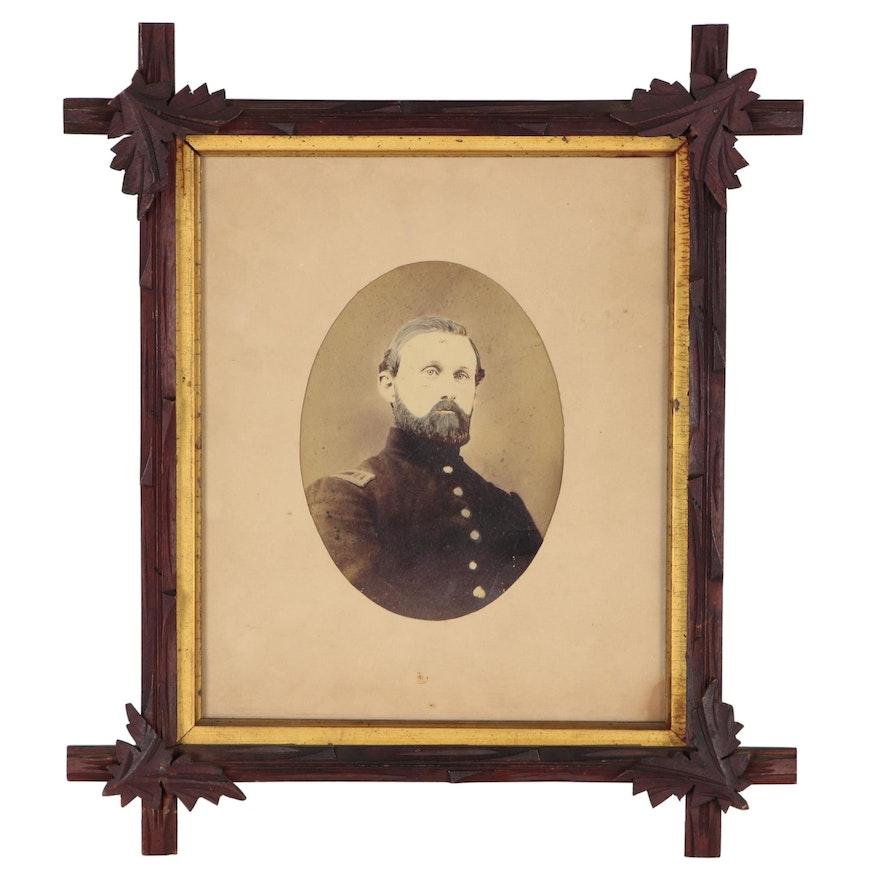 Civil War Portrait Albumen Photograph, Mid to Late 19th Century