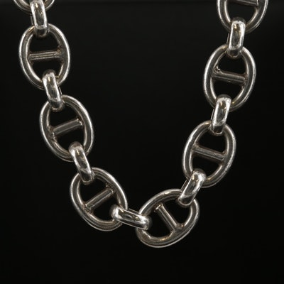 Sterling Silver Mariner Link Chain Necklace