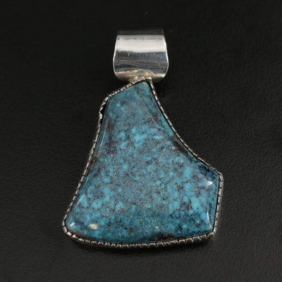 David Zachary Anglo Sterling Turquoise Pendant