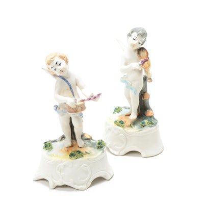 Porcelain Putti Figurines, Mid-20th Century