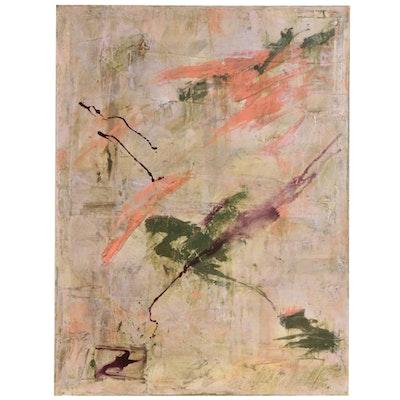 Robert Geno Centofanti Abstract Mixed Media Painting, 1990