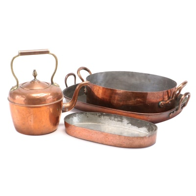 Copper Kettle, Gratin Pan and Other Cookware, Late 19th/Early 20th Century