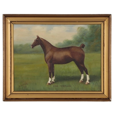 "Henry Crowther Equine Portrait Oil Painting ""23912 Creake Lady"""
