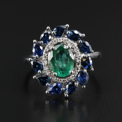 EFFY 14K Gold Emerald, Sapphire and Diamond Ring