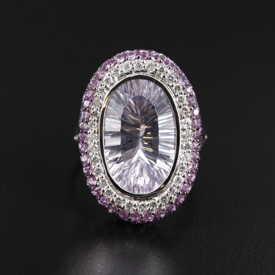 EFFY 14K Gold Amethyst, Diamond and Sapphire Ring