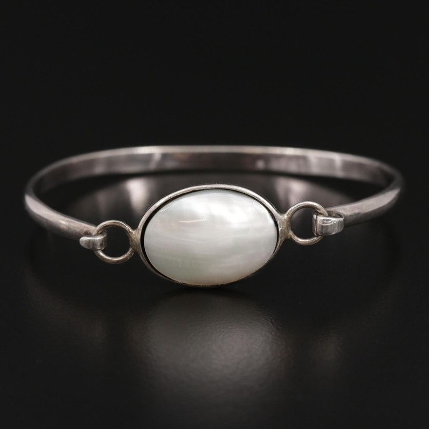 Sterling Mother of Pearl Bracelet