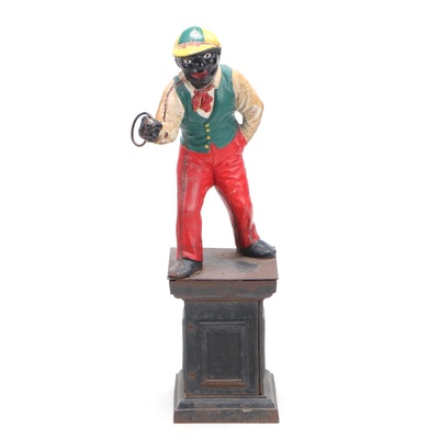 Cast Iron Underground Railroad Lawn Jockey, Early to Mid 19th Century
