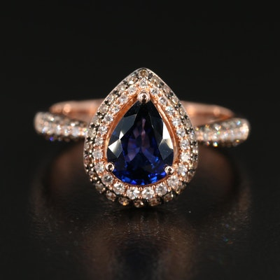 EFFY 14K Gold Sapphire and Diamond Ring