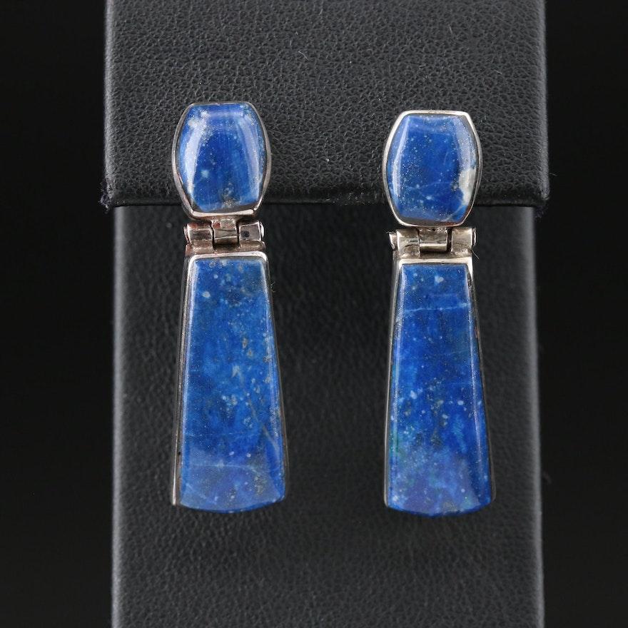 Sterling Silver Lapis Lazuli Drop Earrings