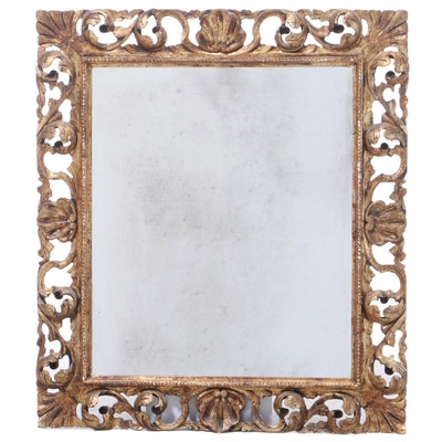 Baroque Style Carved Giltwood Mirror, Early to Mid 20th Century