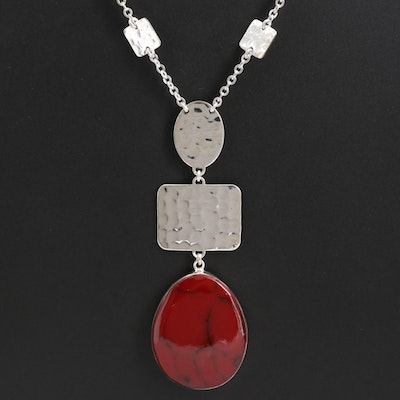 Sterling Silver Jasper Necklace