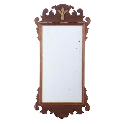 Chippendale Mahogany and Parcel-Gilt Mirror, Early 20th Century