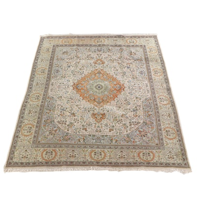 9'4 x 12'3 Hand-Knotted Persian Wool Rug