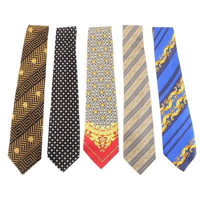 Gianni Versace Silk Neckties with Medusa Motifs and Others