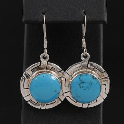 Mexican Imitation Turquoise Dangle Earrings